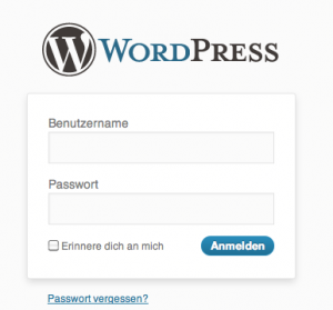 Wordpress Login Screen