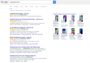 Google Shopping, 8 Product Listing Ads in rechter Spalte