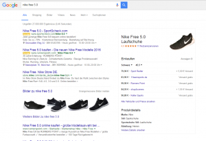 Google Shopping Ads: Neues Layout mit Produkt-Karten