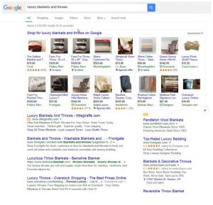 Google Shopping: expandable PLAs, ausgeklappt